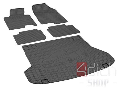 Passgenaue Kofferraumwanne und Gummifußmatten geeignet für KIA Ceed SW ab 2012 - EIN Satz