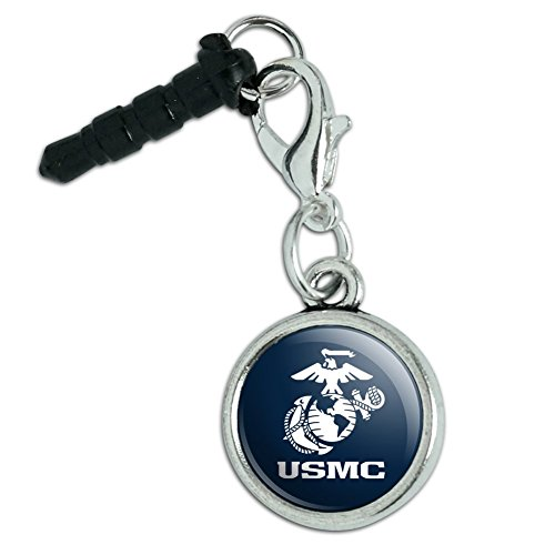 marine-corps-usmc-text-white-logo-on-blue-officially-licensed-mobile-cell-phone-headphone-jack-anti-