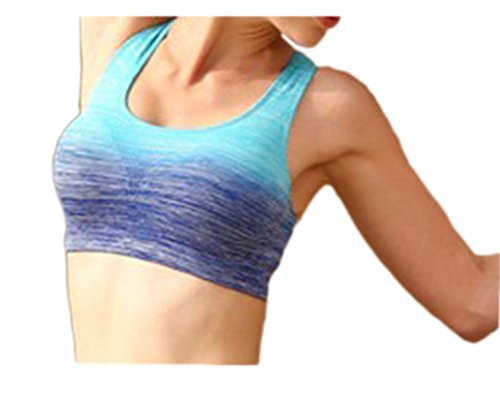 Lotus Instyle Femmes Sports Bras Bra pour le fitness sans Buegel blue