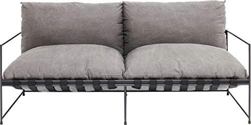 Kare Design Sofa Cornwall, Zweisitzer-Sofa, Loungesofa, Couch mit Armlehnen Grau, modernes Relaxsofa, Designsofa, 2-Sitzer Sofa mit Armlehnen Schwarz, (H/B/T) 90x180x88,5cm