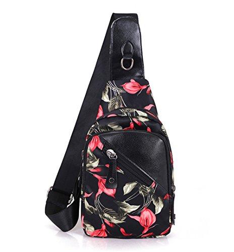 Sling Bag Rucksack Schultertasche Chest Pack Umhängetasche Crossbody Tasche Brusttasche für Reise Radfahren Wandern Camping Freizeit