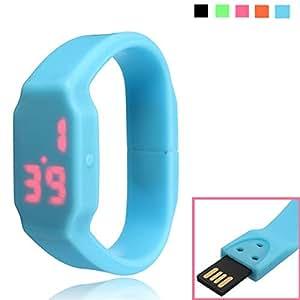 8 G Montre de Sport à LED étanche Bracelet Clé USB mémoire de forme