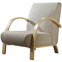 Fauteuil SOFA design bois et tissu Beige