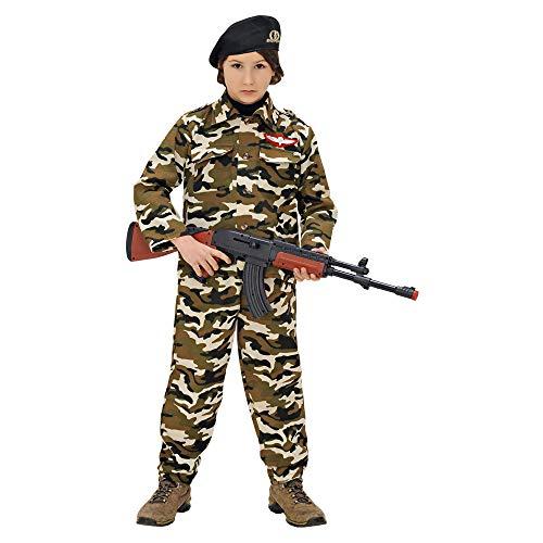 Widmann wdm95576 - costume per bambini soldato (128 cm/5-7 anni), multicolore, xxs