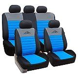 SITU universal Sitzbezüge für Auto Schonbezug Schoner Komplettset schwarz/blau SCSC0114