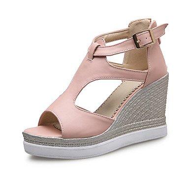 LvYuan Da donna-Sandali-Serata e festa Formale Casual-Innovativo Club Shoes-Zeppa-Materiali personalizzati Finta pelle-Blu Rosa Bianco Blue