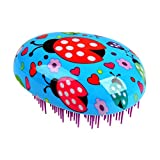 PARSA BEAUTY Ladybug profesional para desenredar-Maravilloso-Cepillo para niños para desenredar y para un cabello flexible y brillante