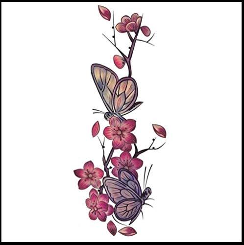 Schmetterling Blume Sexy Körperbemalung Wasserdichte Weibliche Anhaltende