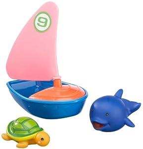 Happy People 40163 - Velero y Animales acuáticos para la bañera