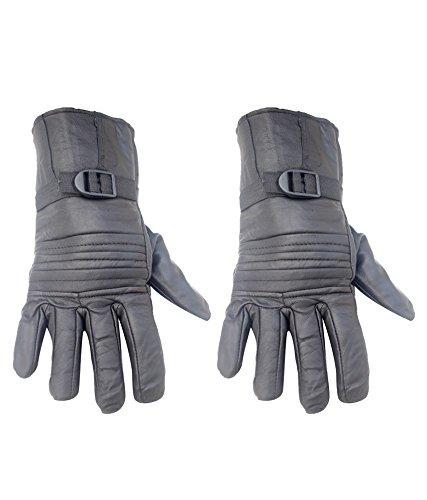 Modish Designs Modish Black Color Top Stitch Winter Men's Gloves