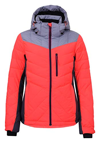 Icepeak - Kendra Fluo org Jacket l - Blouson de Ski - Orange Fluorescent - Taille 36