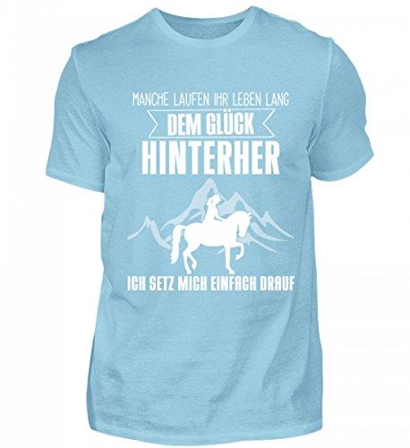 Shirtee Mens Premiumshirt Alta Qualità - Idea Regalo Cavalli Per Cavalli / Fan Equestri · Motivo Cavallo / Dicendo · Colori Diversi Cielo Blu