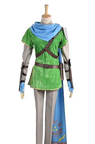 Video Games The Legend Of Zelda: Hyrule Warriors (Zelda Muso) Link Cosplay Hat Schal und Kostüm Custom Made Full Set Gr. Männlich S, As (Link Warriors Kostüme Hyrule)
