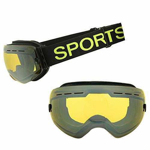 Yiph-Sunglass Sonnenbrillen Mode Skibrillen - Überbrillen Ski- / Snowboardbrillen Für Herren, Damen Jugend - 100% UV-Schutz (Farbe : Light Yellow Film)