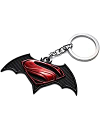 Rainsound Black ,Red Batman Vs Superman Logo Keychain