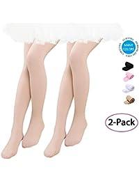 Amilia Lot de 2 Fille Collants de Danse pour Les Enfants Collants Filles  Femmes Leggings Socquettes pour Ballet Yoga Gymnastique… 540b3f7ff91