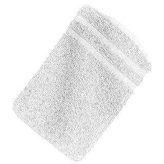 1x Premium Frottee Waschhandschuh 15x21 cm in weiß von StickandShine in 500g/m² aus 100% Baumwolle Öko-TEX Standard 100 Materialien