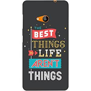 Casotec Motivation Quotes Design Hard Back Case Cover for Microsoft Lumia 535