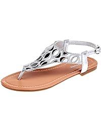 Amazon.it  Sandali Eleganti Argento - SmrBeauty®  Scarpe e borse 5fd4807c7a3