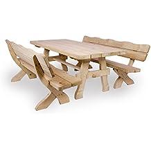 Lieblich Gartenmöbel Set U0027Farmu0027 200 Cm, Gartentisch Und 2 Gartenbänke, Ländliche,  Rustikale