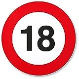 DankeDir! 18. Geburtstag Kunststoff Schild (20 x 20 cm), Geschenk 18. Geburtstag Bester Freund - Beste Freundin, Geschenkidee Geburtstagsgeschenk Volljährigkeit, Geschenk 18er Geburtstagsparty