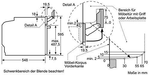 Bosch HNG6764B6 Serie 8 Backofen Elektro / A / 67 L / Vulkan Schwarz / Pyrolyse-Selbstreinigung / Mikrowellenfunktion / PerfectRoast & PerfectBake - 9