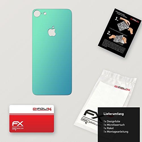 "Skin Apple iPhone 7 ""FX-Velvet-Black"" Designfolie Sticker FX-Variochrome-Lapis-Blue"