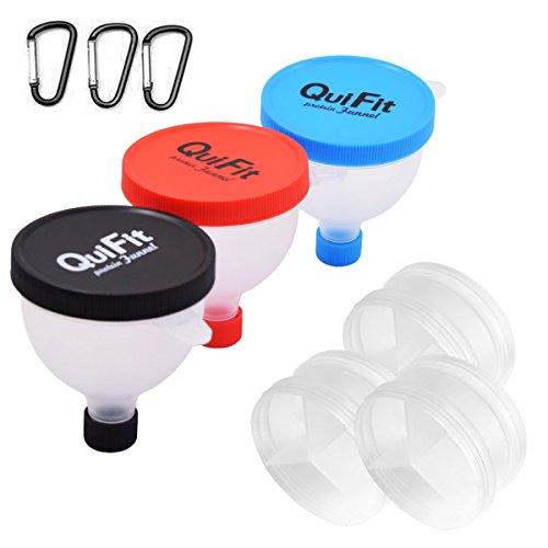 QuiFit Fill n Go Funnel Trichter-Staub Protein–Pille caja-caja Speicherkapazität von Proteinen, durchsichtig