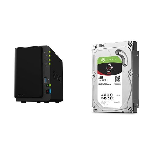 Price comparison product image Synology DS216+II 4TB (2x 2TB Seagate IronWolf) 2-bay Desktop Network Attached Storage