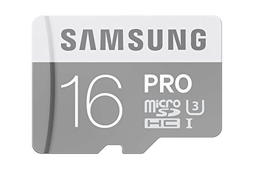 Samsung Pro MB-MG16EEU Carte Mémoire Micro SDHC Compatible avec Smartphones, Tablettes et Laptops - 16 GB