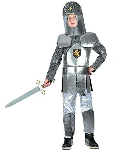 Generique Ritter-Kostüm für Kinder Mittelalter Silber-Grau 122/134 (7-9 ()