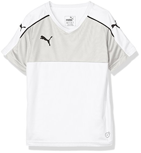 PUMA Kinder T-Shirt Accuracy Short Sleeve, White-Black, 116