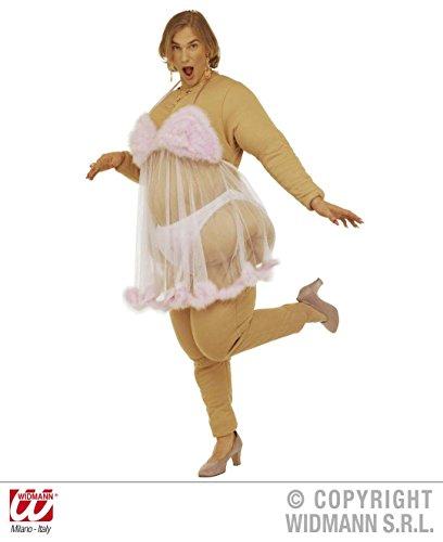 KOSTÜM - DICKER STRIPPER - Größe 52 (L), Stripteasetänzerin Stripteasetänzer Travestie Sexy Fatsuit -