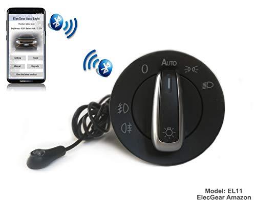 Preisvergleich Produktbild EL11 Auto Lichtsensor Bluetooth App Lichtschalter,  KFZ Scheinwerferschalter Hauptlichtschalter Nebelscheinwerfer,  Coming Leaving Home Modul – Fabia 2,  Octavia 1,  Combi,  Citigo,  Superb B5,  Roomster 5J