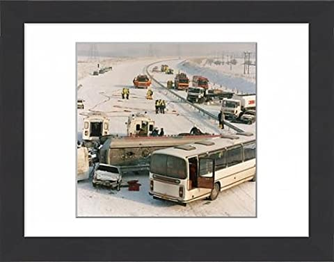 Framed Print Of Road Accident