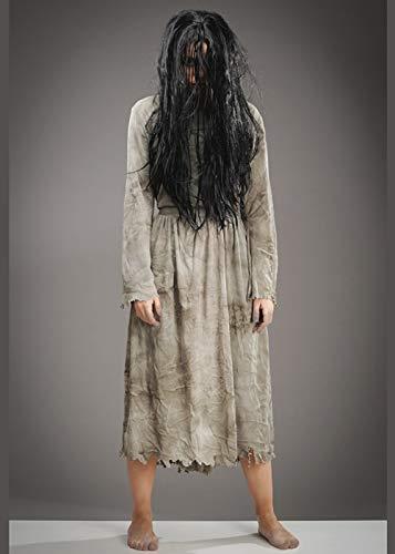 Magic Box Int. Frauen Halloween Das Ring Girl Style Kostüm mit Perücke