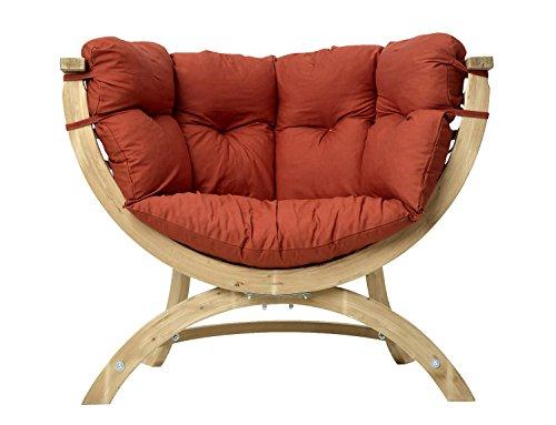 Amazonas Siena Uno–Sessel aus pícea von 118.5cm Breite und EN, Farbe Terracotta