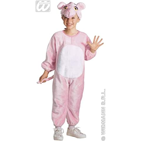 Pequeña de peluche de color rosa traje de pantera| tamaño 110