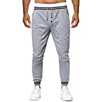 Pants para Hombre SUNNSEAN Color Sólido con Cordón Bolsillos Moda Casual Cómodo  para Yoga Fitness Deportes 56d67092679d
