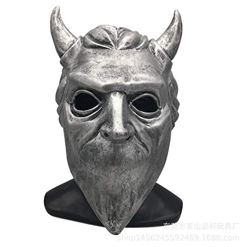 ess Ghouls Mask Cosplay Ghost B.c Heavy Metal Doom Hard Rock Roll Band Latex Helmet Masks Halloween Party Props ()