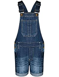 5677e35aaf5 A2Z 4 Kids® Kids Girls Dungaree Shorts Denim Stretch Jeans Jumpsuit  Playsuit All in One New Age 5 6 7 8 9 10 11…