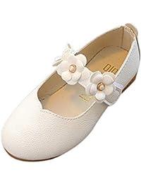 WE-WIN Bambino Ragazze Fiore Mary Jane Balletto Ballerine Scarpe Gancio e  Loop Cinturino Princess 138c89f828b