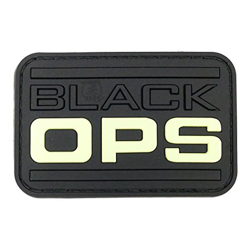 Rubber Black Ops Moral Patch Glow In The Dark (Black Bekleidung Ops)
