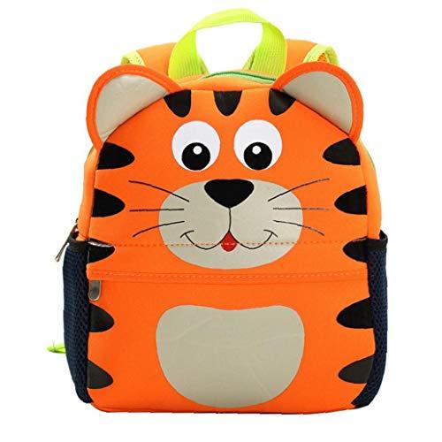 Borse Bambino sveglio zaino asilo Scuola di animale del fumetto del sacchetto 3D per i bambini Tiger