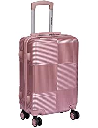 Killer PC (Polycarbonate) Hardsided Trolley Bag/Suitcase - 20 Inch (Antra-Rose Gold)