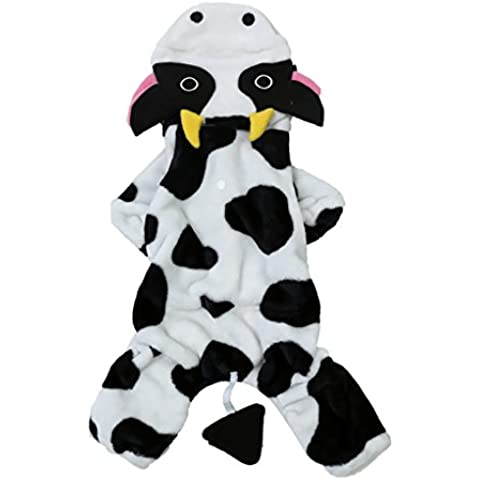 moolecole vaca mascota disfraz perro ropa coral terciopelo osito de peluche vestir ropa por otoo