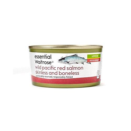 Selvaggio senza pelle di salmone rosso e disossato essenziale 170g waitrose