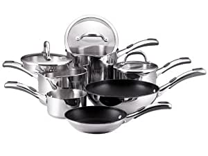 Meyer select stainless steel cookware set 6 pieces for Naaptol kitchen set 70 pieces