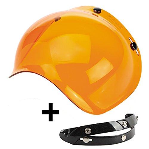 visera Bubble tres Botones Abatible Naranja Naranja Universal para casco Jet Compatible...
