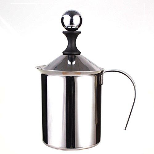 XL-4-Manuel mousse 304 en acier inoxydable mousse café pot fleur lait manuellement de double-couche épaississement